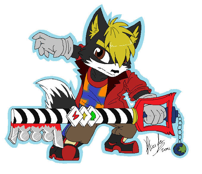 Jet and his Keyblade by FoxMccloud101