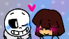 Frans Stamp - Sans x Frisk (Request) by xNightyMoonx