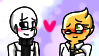 Galphys Stamp - Alphys x Gaster (PC) by xNightyMoonx