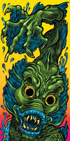 Creature From the Black Lagoon Skateboard Design