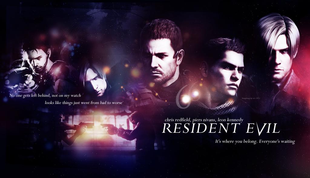 Resident Evil 6 Wallpaper V1 Chris Piers Leon By BangbangVIP
