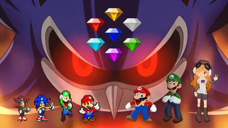 SMG4 X SMBZ The Chaos Emeralds Arc by matheusmattos75