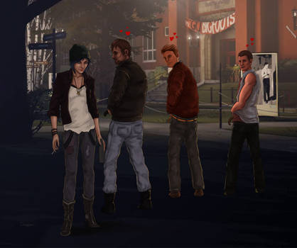 Chloe And The Boys by CecilMateus
