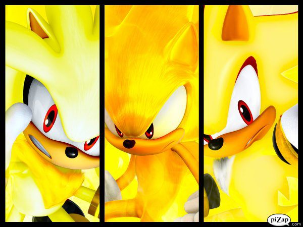 Sonic Shadow And Silver Super Form Collage By SonicXBoom123