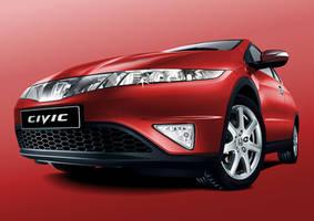 Honda Civic Vector by stevygee