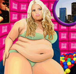 BBW Weight Gain Jessica Simp by CulturalTaboo