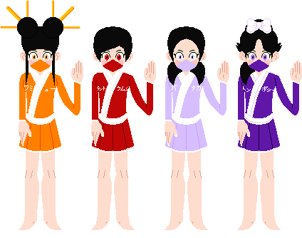 Ninja Quadruplet Cousins Colored Suits by Nintendo-God011210