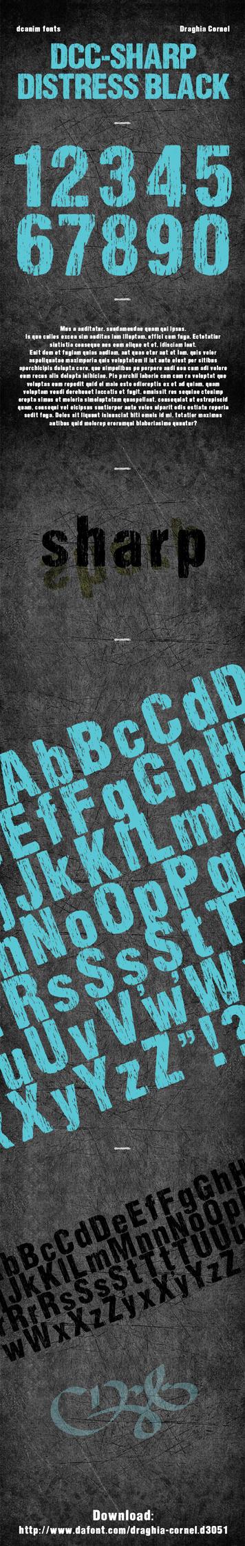 DCC-Sharp Distress Black - font by dccanim