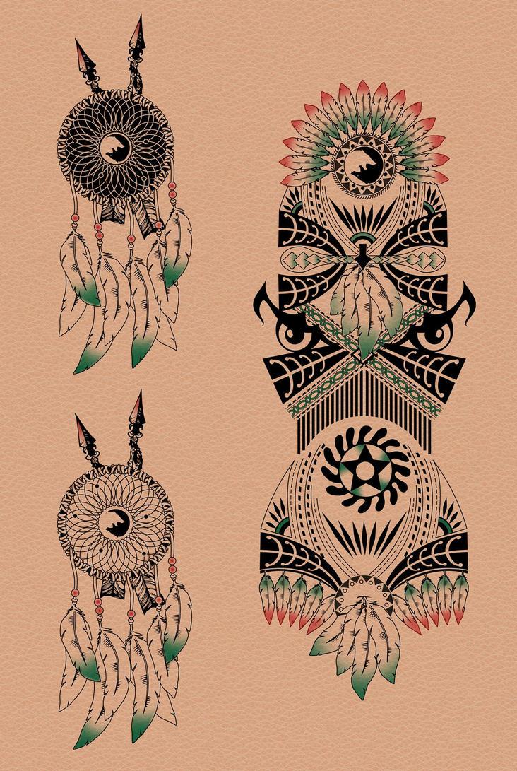 Hunter tattoo sleeve by dccanim