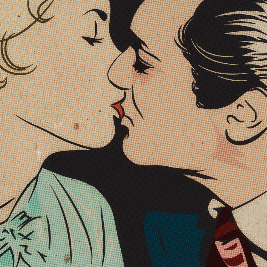 Tony Curtis and Janet Leigh kiss by dccanim
