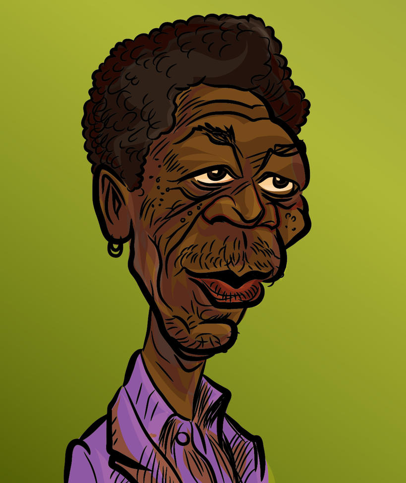Morgan Freeman by dccanim