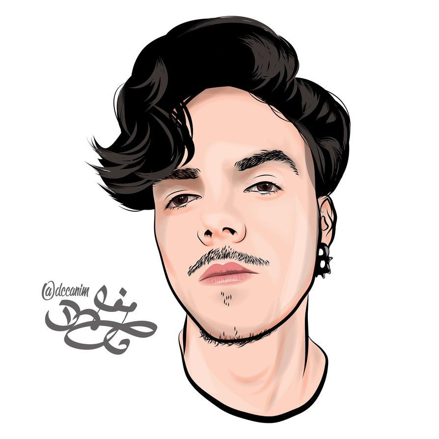 man portrait by dccanim