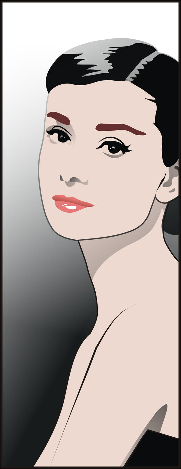 Audrey Hepburn by *dccanim on
