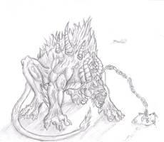 flesh hound by InsaneInfernO