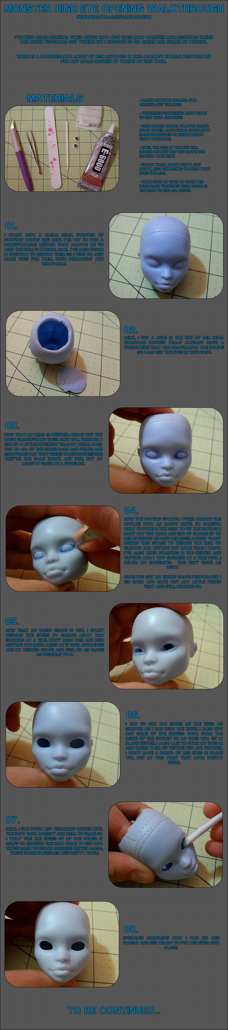 MH Eye Opening Walkthrough [UPDATED] by demonrae-dolls