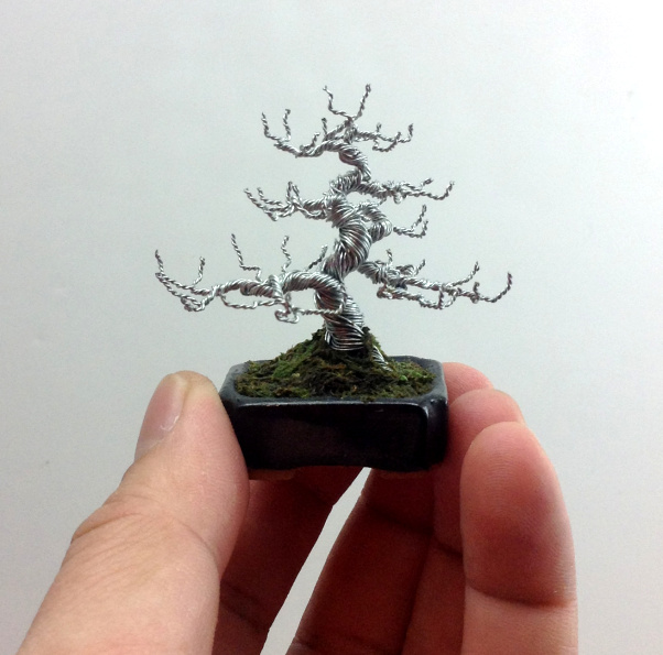 deciduous wire bonsai tree sculpture by ken to by kentoart Japanese Maple Bonsai Types of Deciduous Trees