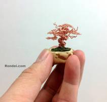 Copper Mame Wire Bonsai Tree in Yamadori style