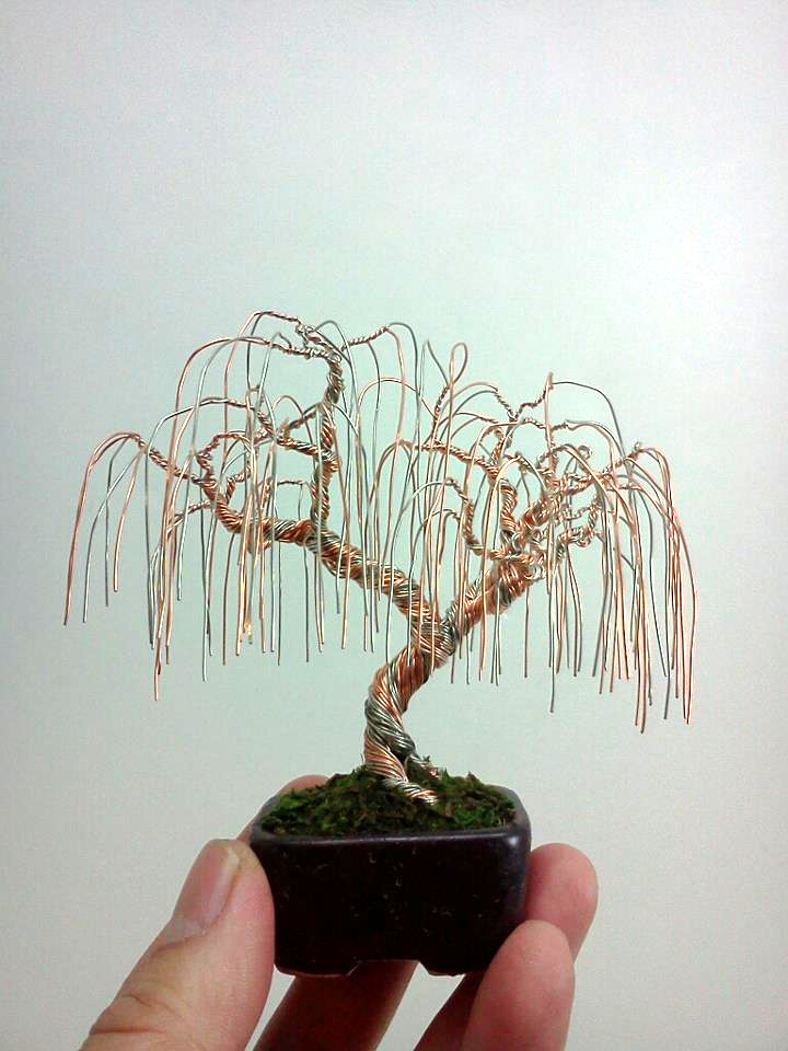 weeping willow wire bonsai tree by ken to by kentoart on. Black Bedroom Furniture Sets. Home Design Ideas