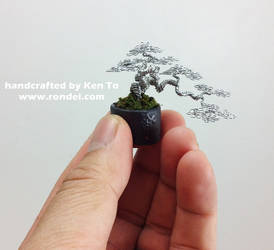 Micro Cascade Wire bonsai Tree by Ken To by KenToArt