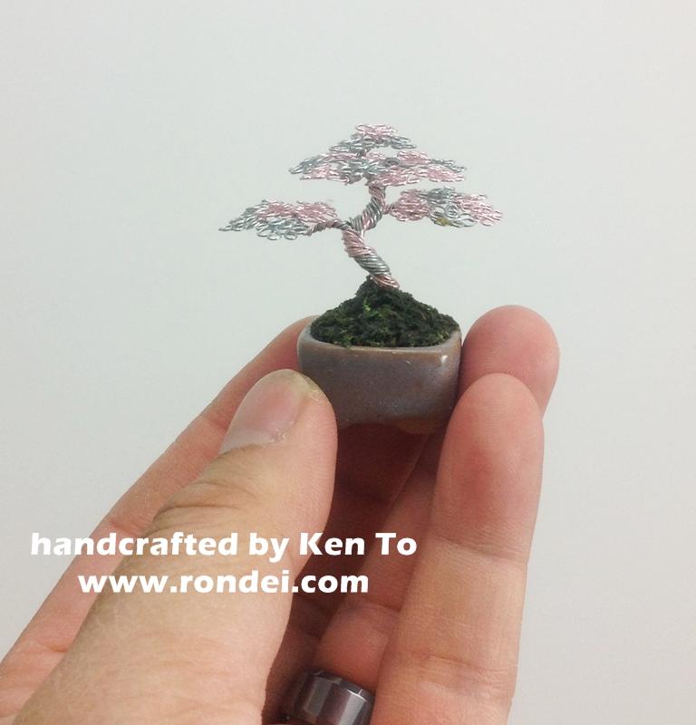 pink and silver mame wire bonsai tree by ken to by kentoart on rh deviantart com Bonsai Wiring Tips Bonsai Copper Wire