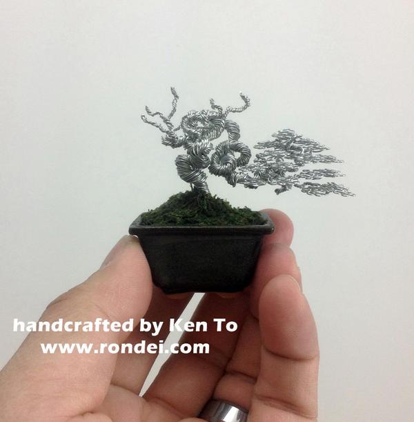 Mame yamadori style wire bonsai tree Ken To by KenToArt