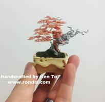 Yamadori style two-tone wire bonsai tree by Ken To by KenToArt