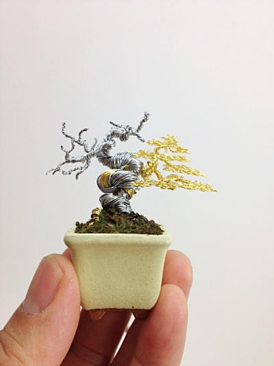 A mini two-tone yamadori style tree by Ken To by KenToArt