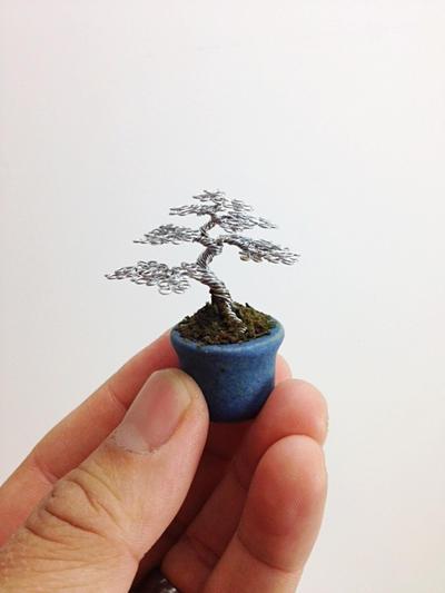 Mini Wire Bonsai Tree by Ken To by KenToArt