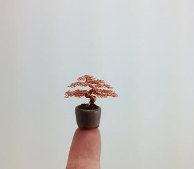 Micro Wire bonsai tree by Ken To by KenToArt