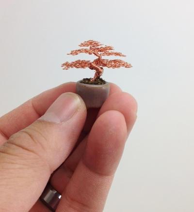 Micro wire bonsai tree by Ken To by KenToArt