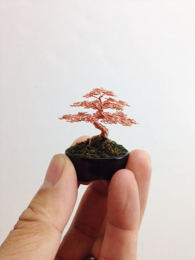 Small Wire Bonsai Tree by Ken To by KenToArt