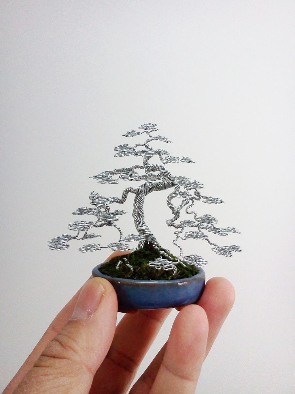 Wire Bonsai Tree sculpture by Ken To by KenToArt