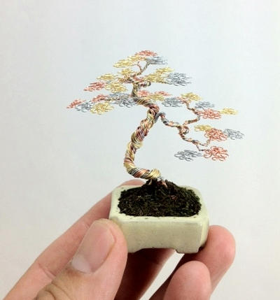 3 color wire mame bonsai by Ken To by KenToArt