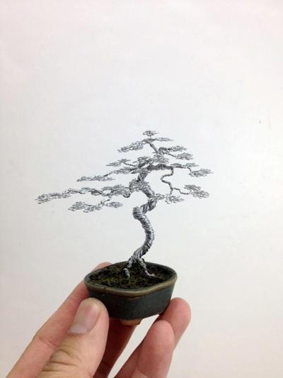 Wire bonsai tree by Ken To by KenToArt