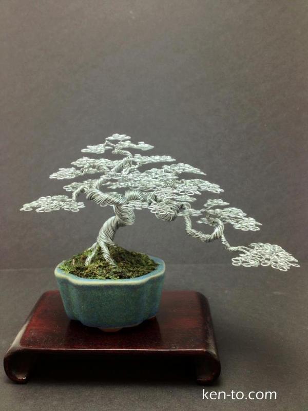 Semi-cascde wire bonsai tree by Ken To by KenToArt