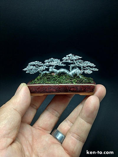 A mame raft wire bonsai tree by Ken To by KenToArt