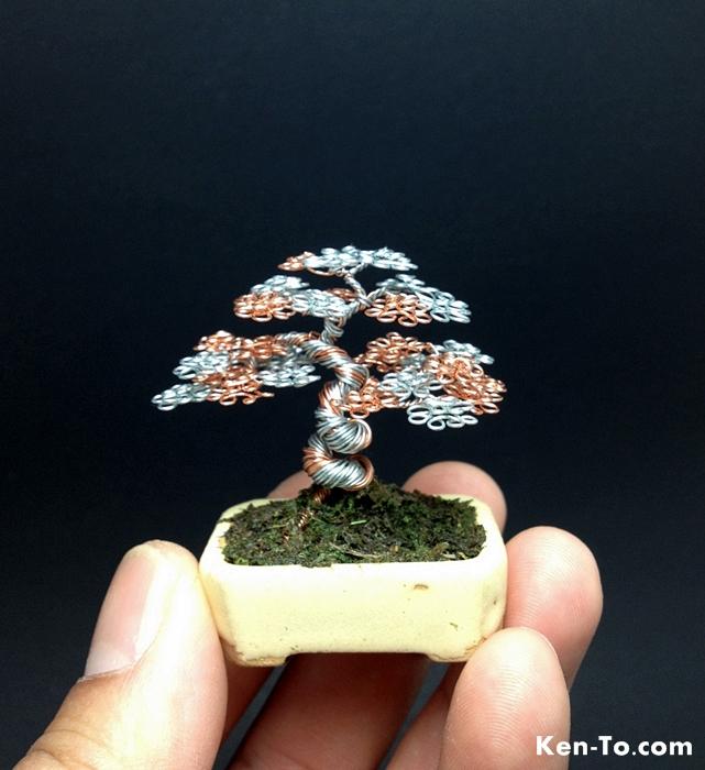 Silver Copper Wire Bonsai Tree By Ken To By Kentoart On Deviantart