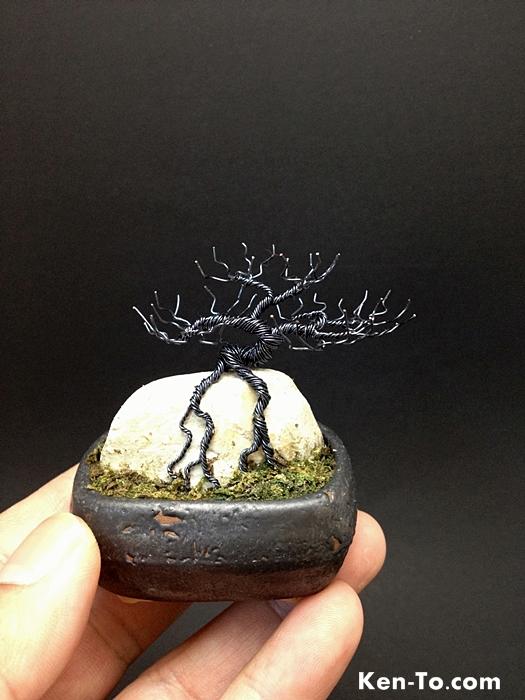 hematite deciduous ror wire bonsai tree by ken to by Common Deciduous Trees Common Deciduous Trees