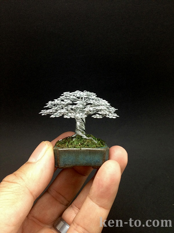 A broom style wire bonsai tree by Ken To by KenToArt