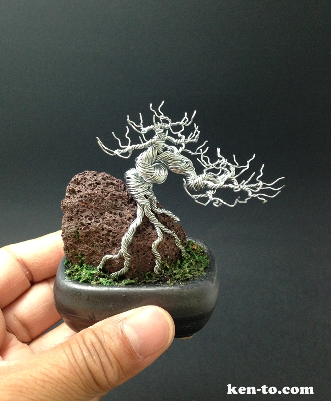 Wire bonsai tree by Ken To by KenToArt