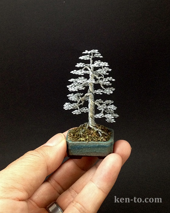 A formal upright wire bonsai tree by Ken To by KenToArt