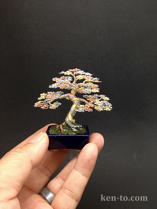 A 3 color wire bonsai tree by Ken To by KenToArt