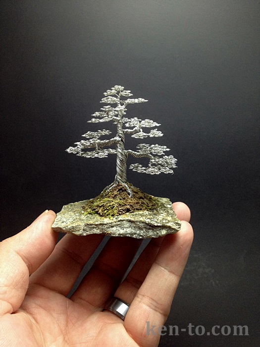 Formal upright wire bonsai tree by Ken To by KenToArt