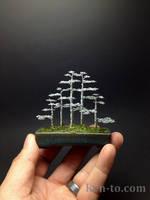 5 tree forest style bonsai sculpture by Ken To by KenToArt