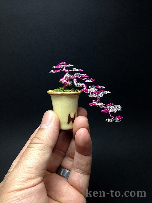 3 color cascade wire bonsai tree by Ken To by KenToArt