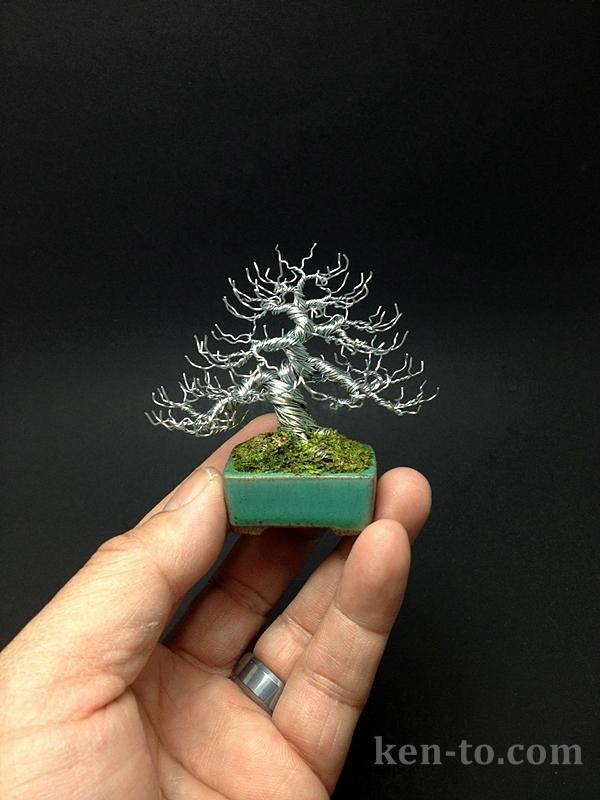 Deciduous wire bonsai tree by Ken To by KenToArt