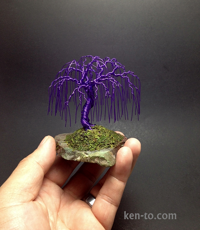 Purple Willow Wire Bonsai Tree By Ken To On Slab By Kentoart On Deviantart