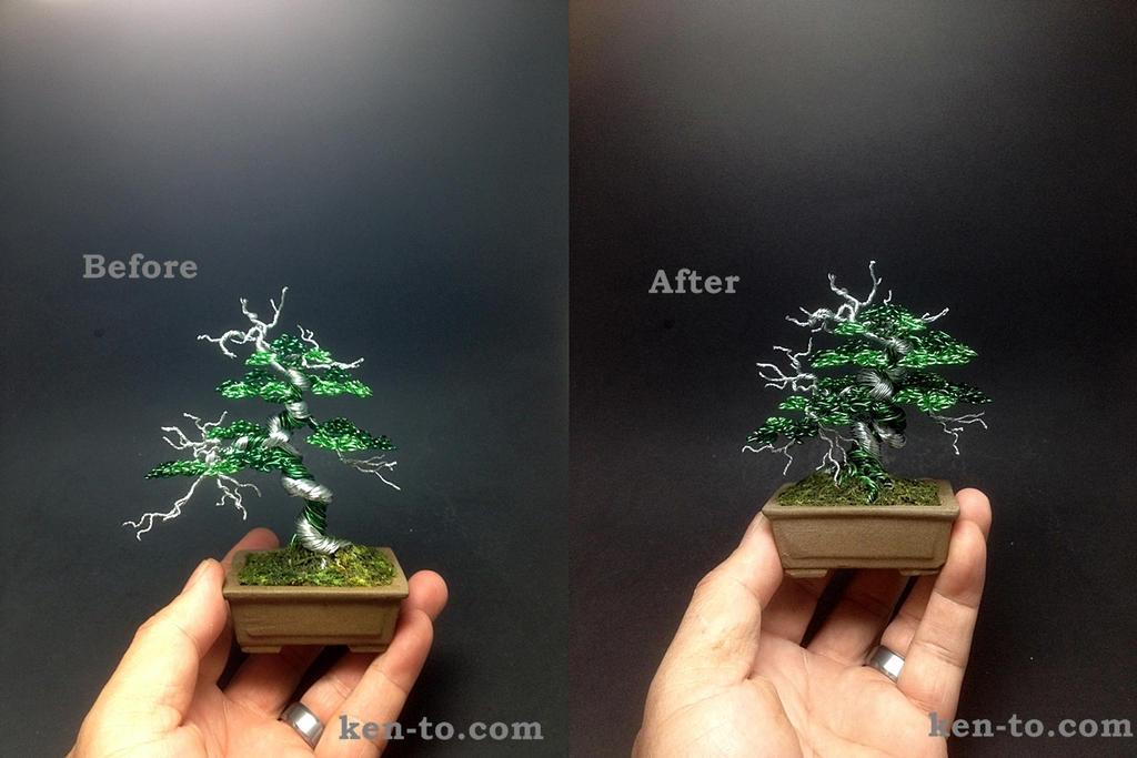 Large green wire deadwood bonsai tree by Ken To by KenToArt on ...
