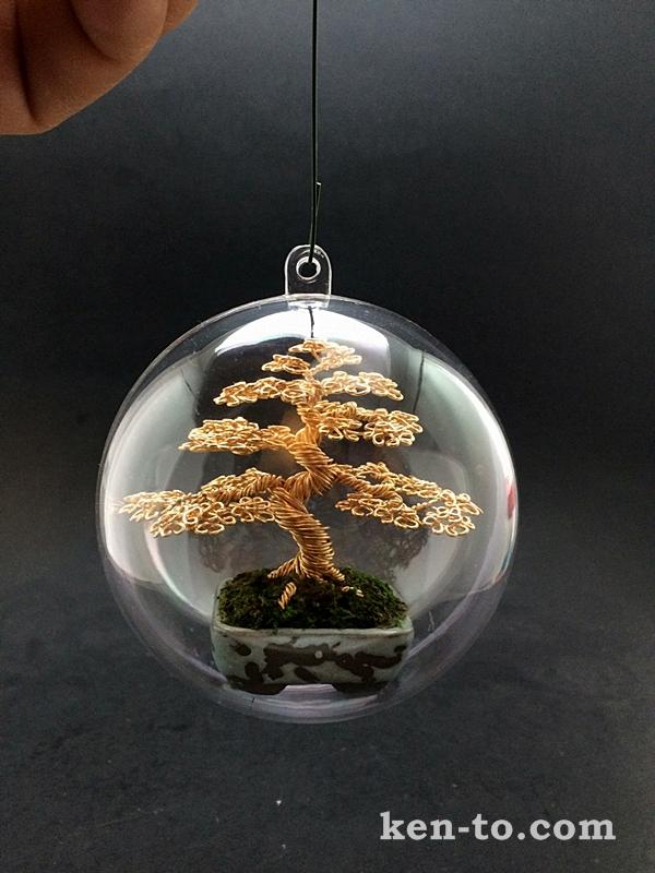 Wire bonsai tree ornament by Ken To by KenToArt