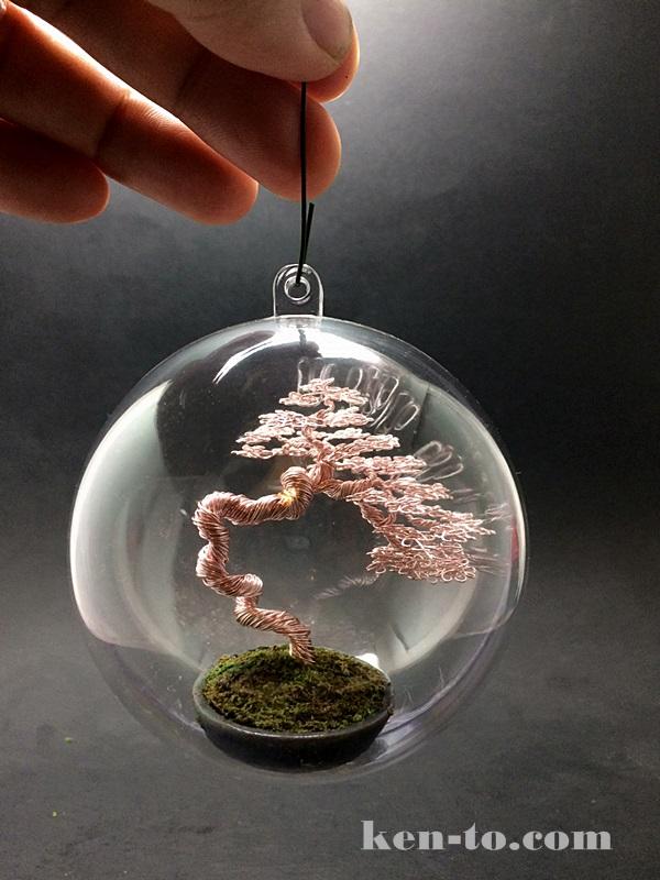 Literati wire bonsai tree ornament by Ken To by KenToArt